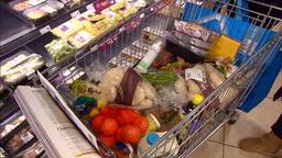 Het is topdrukte bij de supermarkten. (Foto: Omroep Brabant)