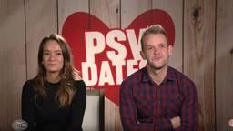 Claudia en Edwin gingen op een blind date. (Beeld: YouTube/PSV)