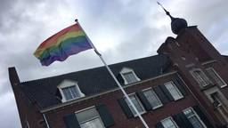 De regenboogvlag werd gehesen in gemeente Geertruidenberg (Foto: Kevin van Oort)