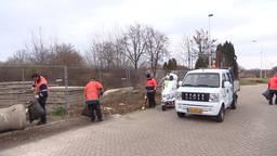 Omroep Brabant en Vebego waren druk bezig met het opruimen van het afval.