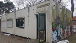 De vernielde keet van de Karen Weening Speeltuin in Tilburg