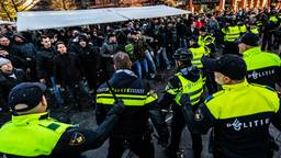 De demonstraties liepen uit de hand in Eindhoven. (Foto: ANP)
