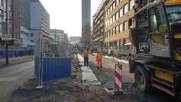 Over deze weg zou over ruim een maand de carnavalsoptocht van Eindhoven moeten rijden. Foto: Collin Beijk