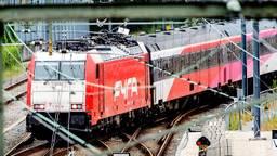 Traxx-locomotieven zorgen voor trillingen.