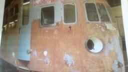 Een trein die geschuurd is bij tROM. (archieffoto)