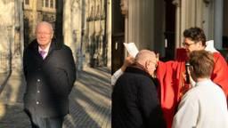 Frans (73) werd zondag lid van de Rooms-Katholieke Kerk (foto's: Michelle Peters / Wim Koopman)
