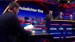 Rico Verhoeven maakte zijn debuut als huisdichter bij het programma 'Makkelijk Scoren' (Foto: beelden NPO3)