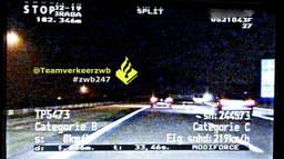 De automobilist racete over de N261. (Foto: Twitter Team Verkeer Zeeland-West-Brabant)