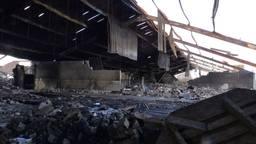 Een trieste aanblik, zo ziet de stal er uit na de brand. (Beeld: Omroep Brabant)