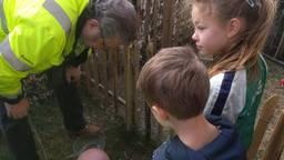 De kinderen vonden de slang in de tuin. (Foto: familie Deynen)
