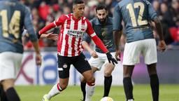 Mohammed Ihattaren staat in de basis bij PSV. (foto: VI Images).