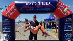 Het pasgetrouwde stel uit Putte heeft zeven marathons in zeven dagen op zeven continenten gelopen
