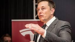 Elon Musk tijdens zijn vorige bezoekje aan Tilburg. (Foto: Rob Engelaar)
