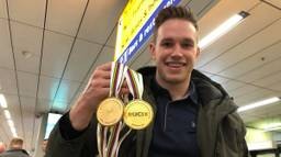 Gouden medailles voor Harrie Lavreysen. (Foto: Rogier van Son)
