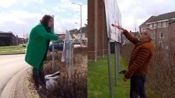 Jolanda van Hulst van Senioren Brabant (L) en Laurens van Voorst van Code Oranje doen mee aan de provinciale verkiezingen.