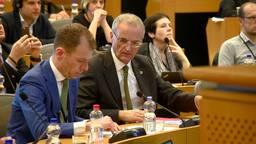 Lobbyist Jop van Unnik (L) met Europarlementariër Lambert van Nistelrooij.