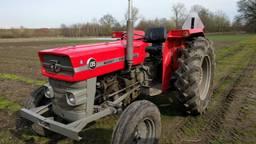 De tractor die gestolen is bij Stadsakkers Eindhoven.