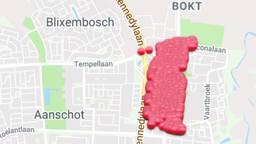Het getroffen gebied in Eindhoven. (Illustratie: Enexis)