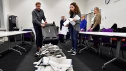 Stemmen worden geteld in Breda. (Foto: Erald van der Aa)
