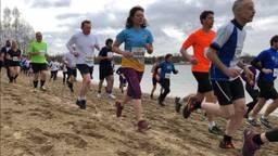 NK Veldloop voor ambtenaren op het strand van Aquabest