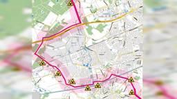 Route van de buizen door Helmond.