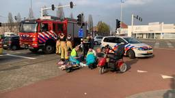 De man op de scootmobiel heeft het ongeluk niet overleefd. (Foto: Dave Hendriks)