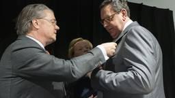Commissaris van de Koning Wim van de Donk en gedeputeerde Bert Pauli. (Foto: Marc Bolsius)