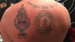 De nieuwe tatoeage van fan Wesley Raaijmakers