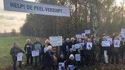 In november protesteerden omwonenden van Leegveld tegen de plannen