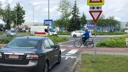 De rotonde waar de  Bikescout is aangelegd (foto: Imke van de Laar).
