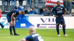 Teleurstelling bij de PSV-spelers na de nederlaag tegen AZ. (Foto: VI Images)