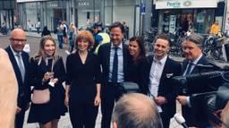 Minister Mark Rutte bij de lancering van de campagne in Den Bosch. (Foto: Landelijk Parket)