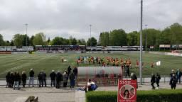 Geen zondagvoetbal meer voor het eerste team van JVC Cuijk. (Foto: @JVC Cuijk / Twitter)