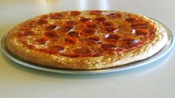 Niet de pizza uit het verhaal (foto: Omroep Brabant).