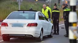 De bestuurder van de auto is aangehouden. (Foto: Perry Roovers)