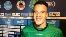 Keeper Etienne Vaessen is dolblij met bereiken van de finale.