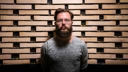 Prijswinnaar Aart Strootman voor de zelfgebouwde marimba (foto: Andries Alkemade)