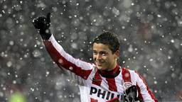 Ibrahim Afellay bij zijn afscheid van PSV in 2010. (Foto: VI Images)