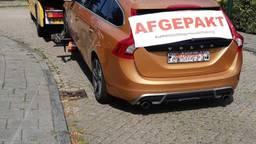 De auto van de man werd in beslag genomen. (Foto: Politie)