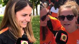 OranjeLeeuwin Daniëlle van de Donk beantwoord vragen van fans. (foto: Ronald Sträter)