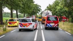 Het ongeluk op de N272 bij Handel gebeurde rond kwart over zeven. (Foto: Sem van Rijssel/SQ Vision)