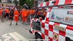 't Brabants WK Buske rijdt mee in de Oranjeparade in Rennes. (foto: Eva de Schipper)