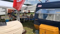 De caravan op de camping in Oostenrijk. (Foto: Luke Merkx)