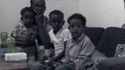 Een deel van het Somalische gezin dat mag blijven.