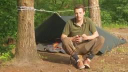 Tim kampeert middenin de Brabantse natuur.