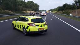 Op de A73 gebeurden meerdere aanrijdingen. (Foto: Facebook politie Boxmeer)