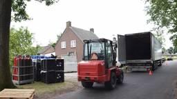 Het drugslab werd ontmanteld (foto: Marco van den Broek/SQ Vision).