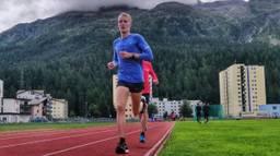 Björn Koreman tijdens zijn trainingsstage in Zwitserland in aanloop naar de marathon. (Foto: Rijk Nabuurs)