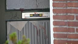 De ramen van een voordeur zijn kapot. (Foto: Persburo BMS)