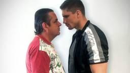 Frank Lammers en Rico Verhoeven spelen samen in Undercover. (Foto: Twitter Netflix)